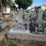 安城市 和型墓石完成工事